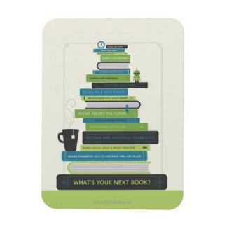 What's Your Next Book? Rectangular Photo Magnet