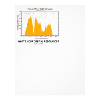 What's Your Orbital Resonance? (Astronomy Humor) Letterhead