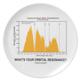 What's Your Orbital Resonance? (Astronomy Humor) Dinner Plate