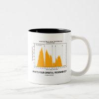 What's Your Orbital Resonance? (Astronomy Humor) Two-Tone Coffee Mug