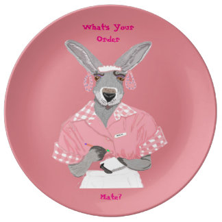 What's Your Order, Mate? Porcelain Plate