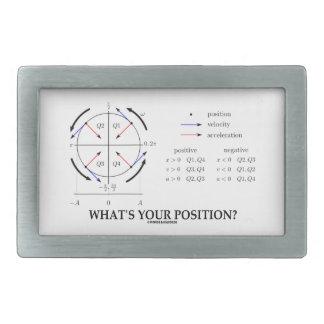 What's Your Position? (Angular Momentum) Rectangular Belt Buckles