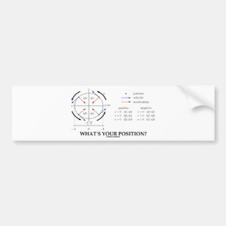 What's Your Position? (Angular Momentum) Car Bumper Sticker