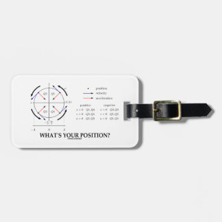 What's Your Position? (Angular Momentum) Tags For Luggage