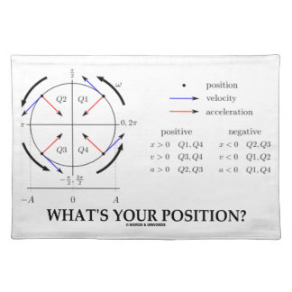 What's Your Position? (Angular Momentum) Place Mats