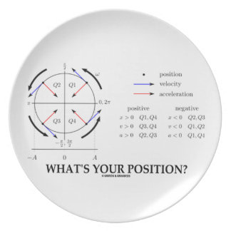 What's Your Position? (Angular Momentum) Party Plates