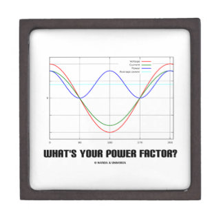 What's Your Power Factor? (Physics) Premium Keepsake Boxes