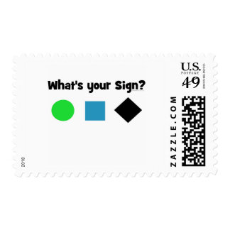 What's Your Sign? Postage Stamp