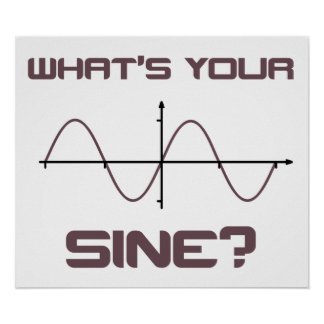 What's Your Sine Nerdy Pick Up Line Posters