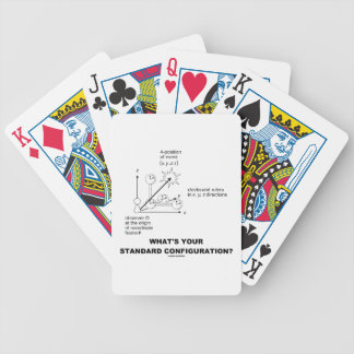 What's Your Standard Configuration? (Physics) Bicycle Playing Cards