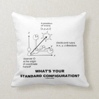 What's Your Standard Configuration? (Physics) Throw Pillow