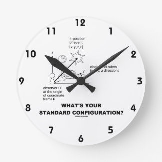 What's Your Standard Configuration? (Physics) Round Clock