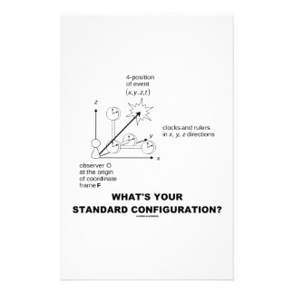 What's Your Standard Configuration? (Physics) Stationery