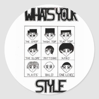 whats your style kids classic round sticker