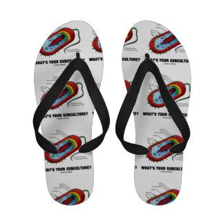 What's Your Subculture? (Prokaryote Bacterium) Flip Flops