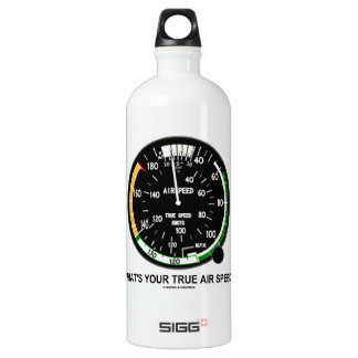 What's Your True Air Speed? Air Speed Indicator Aluminum Water Bottle