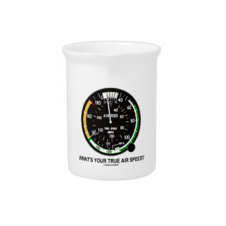 What's Your True Air Speed? Air Speed Indicator Beverage Pitchers