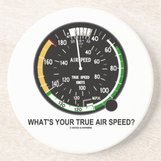 What's Your True Air Speed? Air Speed Indicator Coaster
