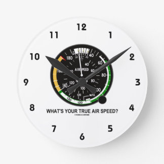 What's Your True Air Speed? Air Speed Indicator Round Clock