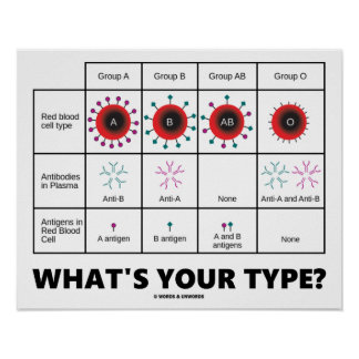 What's Your Type? (Blood Cell Groups) Poster