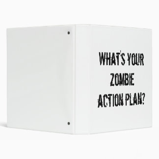 What's your zombie action plan? binder