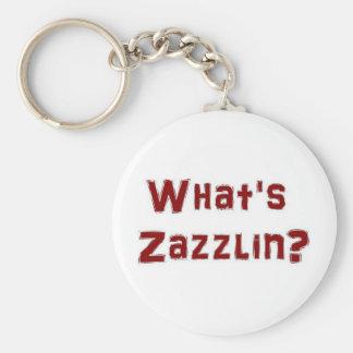 Whats zazzlin? basic round button keychain