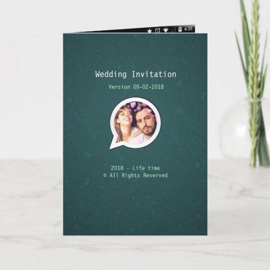 whatsapp wedding invitation lucretiaotto  zazzle