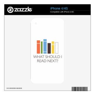 WhatShouldIReadNext.com merchandise Decal For iPhone 4