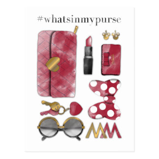 #what'sinmypurse de Minnie Mouse el | Tarjetas Postales