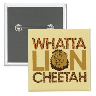 Whatta TIGER! 2 Inch Square Button