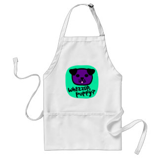 Whazzup, Puppy? With Cute Puppy Face Adult Apron