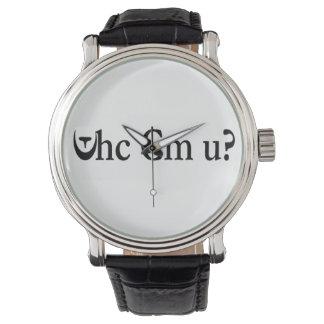 ¿Whc cm U? Reloj