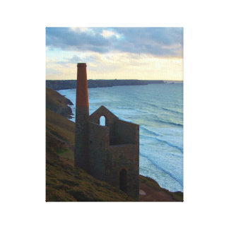 Wheal Coates Mine Cornwall England Sunset Canvas Print