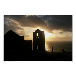 Wheal Coates Mine Cornwall England Sunset Poster