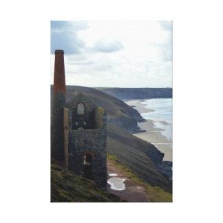 Wheal Coates Tin Mine Ruins Cornwall England Canvas Print