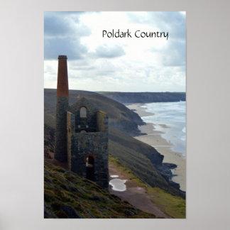 Wheal Coates Tin Mine Ruins Cornwall England Poster