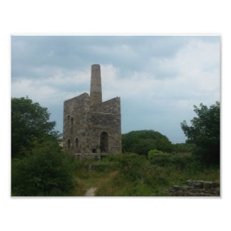 Wheal Peevor Cornish Tin Mine Photograph