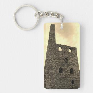 Wheal Peevor Cornish Tin Mine Photograph Double-Sided Rectangular Acrylic Keychain