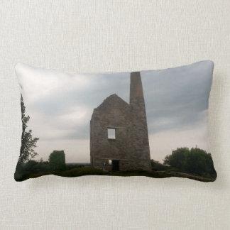 Wheal Peevor Cornish Tin Mine Photograph Throw Pillow