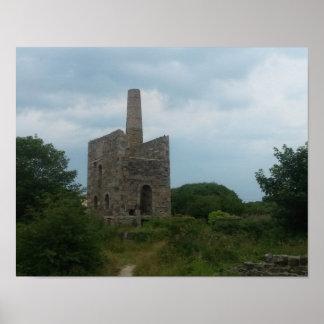 Wheal Peevor Cornish Tin Mine Photograph Posters