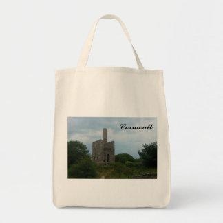 Wheal Peevor Cornish Tin Mine Photograph Tote Bag