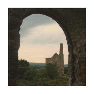 Wheal Peevor Cornish Tin Mine Photograph Wood Canvas