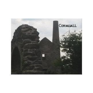 Wheal Peevor Cornwall Tin Mine Ruins Photograph Canvas Print