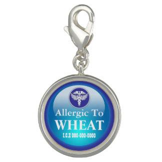 Wheat allergy blue round | Medical alert Charm