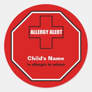 Wheat Allergy Medical Alert Custom Std Sticker