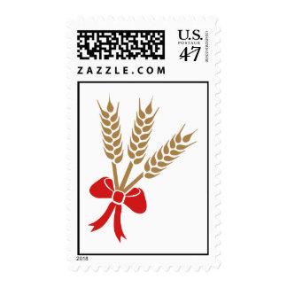 Wheat bow postage stamp