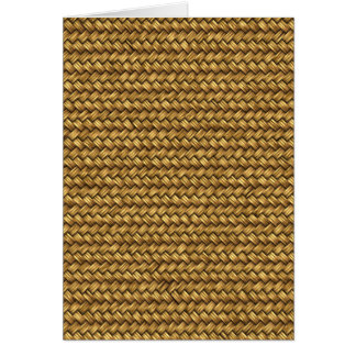 Wheat Color Basket Weave Pattern Texture Card
