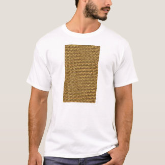 Wheat Color Basket Weave Pattern Texture T-Shirt