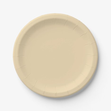 Wheat-Colored Paper Plates