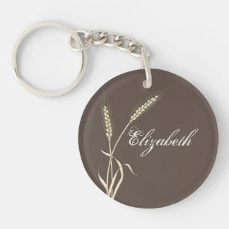 Wheat country wedding single grass keychain